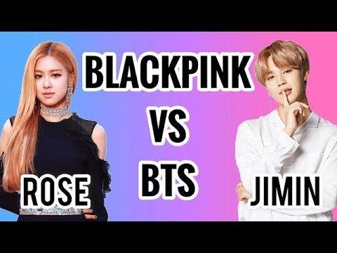 Blackpink Vs Bts Rosa Vs Jimin Youtube Bts Jimin Bts Jimin