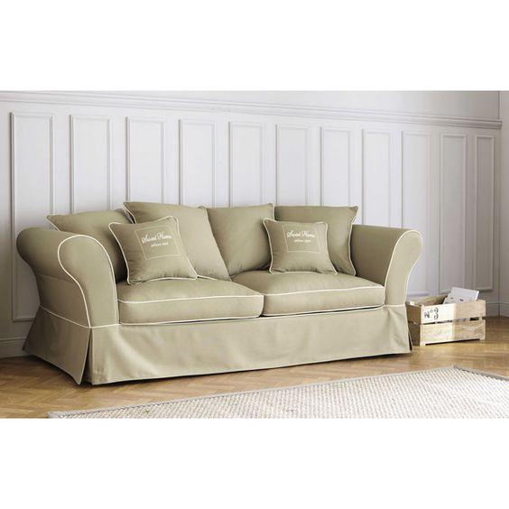 Divano beige in cotone 3/4 ... - Sweet home