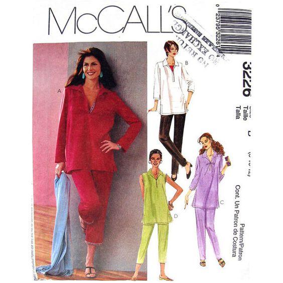 Womens Tunic Top & Pants Pattern McCalls by finickypatternshop, $8.95
