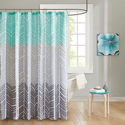 Intelligent Design Adel Printed Shower Curtain Fabric Shower