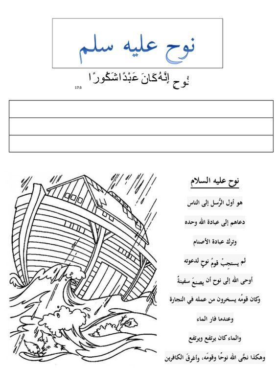 mamma, lär mig! Profeten Noh aleihi salaam. A worksheet