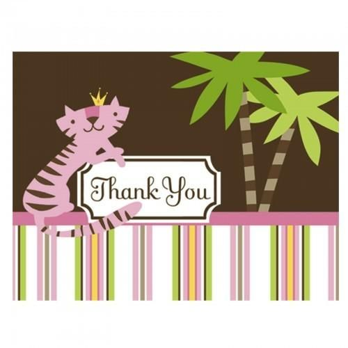 Queen Of The Jungle Thank You Cards (8 Count) - http://www.247babygifts.net/queen-of-the-jungle-thank-you-cards-8-count/