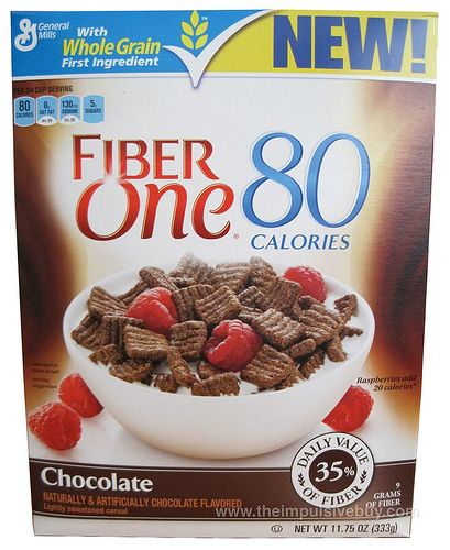 say no to Fiber One chocolate cereal