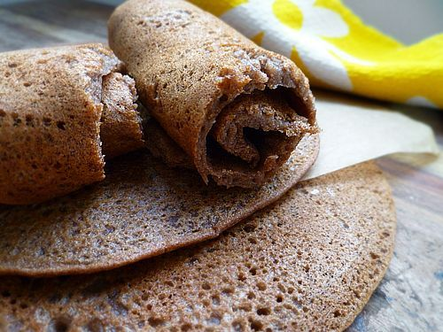 Yeast-free, gluten-free, 100% Teff Injera that you can prepare immediately or with 1 day of fermentation. Delicious served with Chickpea and Sweet Potato Wat or Ethiopian Lentils with Berbere Spice.