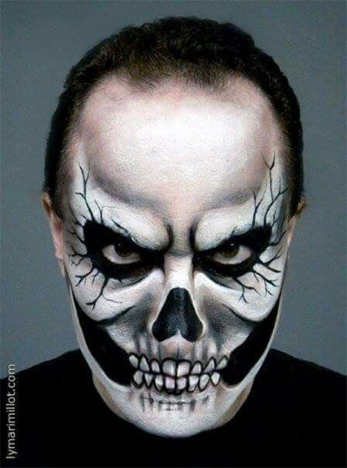 25 Unique Halloween Face Paints Ideas For Kids Men Women 2018 23 Face Painting Halloween Scary Face Paint Scary Faces
