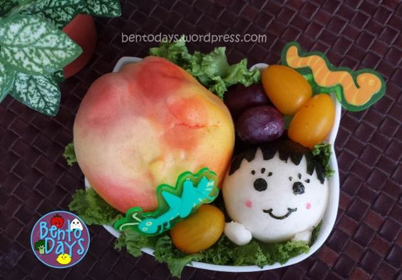 Roald Dahl Bento (James and the Giant Peach bento) | Bento Days