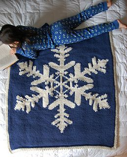 Amazing Snowflake Knitted Throw