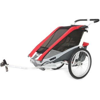 Bild von Thule Chariot Cougar 2 Kinderanhänger + Fahrradset - rot
