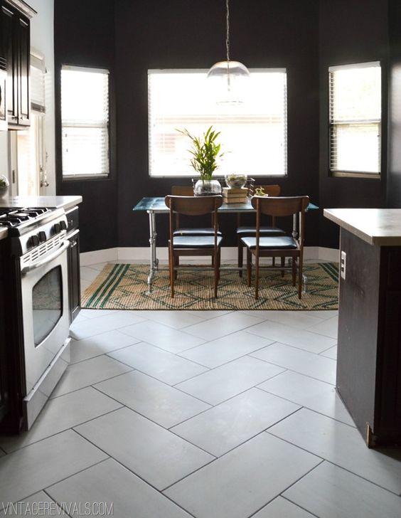 Herringbone Tile: The Kitchen Flooring Saga Part 2 of 2 and the Reveal!