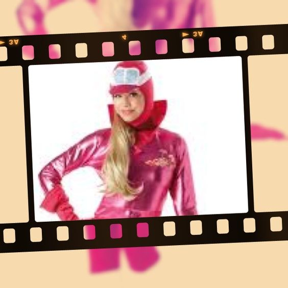 Be Penelope Pitstop in this Costume Bazaar gorgeous pink costume. We also have her arch enemy Dick Dastardly.