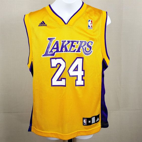 Adidas NBA Los Angeles LA Lakers Kobe Bryant #24 Tank Top Jersey Youth Medium
