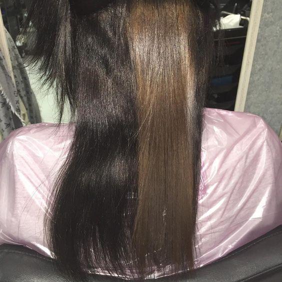 EcoWone творит чудеса!!! Наглядный пример как меняется цвет волос во время процедуры!!! И это без смывки и обесцвечивания. Девочки если у Вас от природы светлый волос и Вы долго окрашиваетесь в более тёмныйА сейчас хотите стать светлее но не знаете как безопасно это сделать. Есть решение Ecowone. К тому же помимо изменения цвета волос Вы получаете: безупречное выпрямление; глубокое питание; устранение пушистости; появляется блеск; волос становится послушным и  здоровым! Запись и вопросы…
