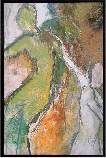 "Reaching Out Framed Artwork -- 44""W x 64""H #modernabstract || furniture.cort.com:"
