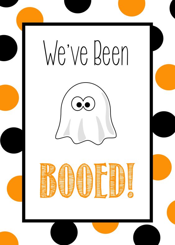 Free Printable We've Been Booed Tag
