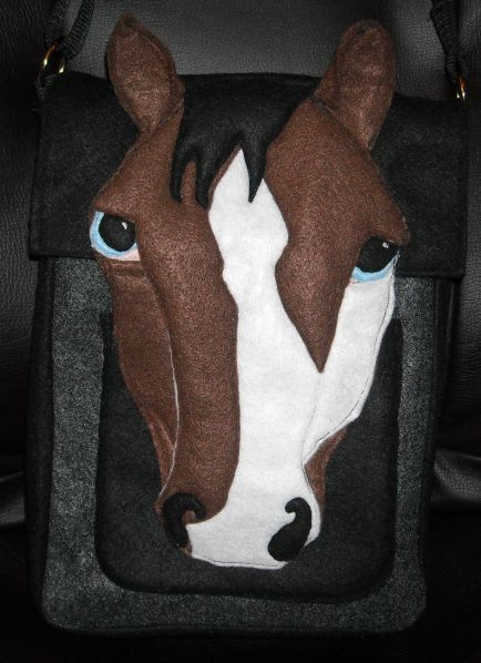 3D Horse Hip Bag Purse IPad Felt from Recycled Water Bottles. $30.00, via Etsy.