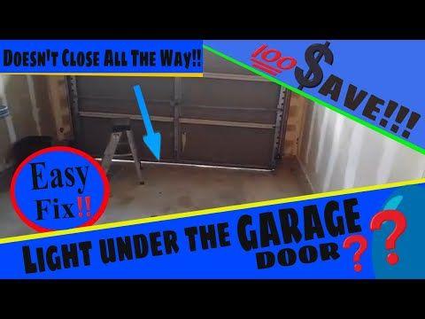 Gap Under The Garage Door How To Adjust A Genie Screw Drive Youtube Garage Doors Garage Door Parts Garage