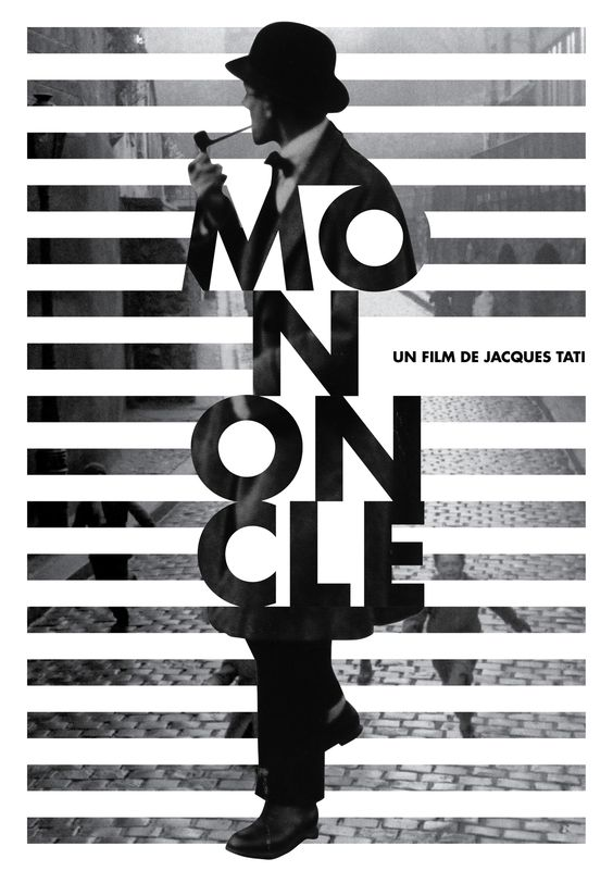 """Mon Oncle"" movie poster by Kate Marie Koyama Design (Basel, Switzerland) 2013-08 via Behance 10560455"