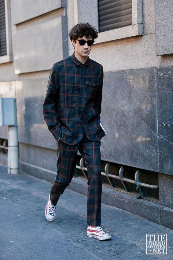 スーツ×スニーカー海外メンズコーデThe Best Street Style from Milan Men's Fashion Week S/S 2020