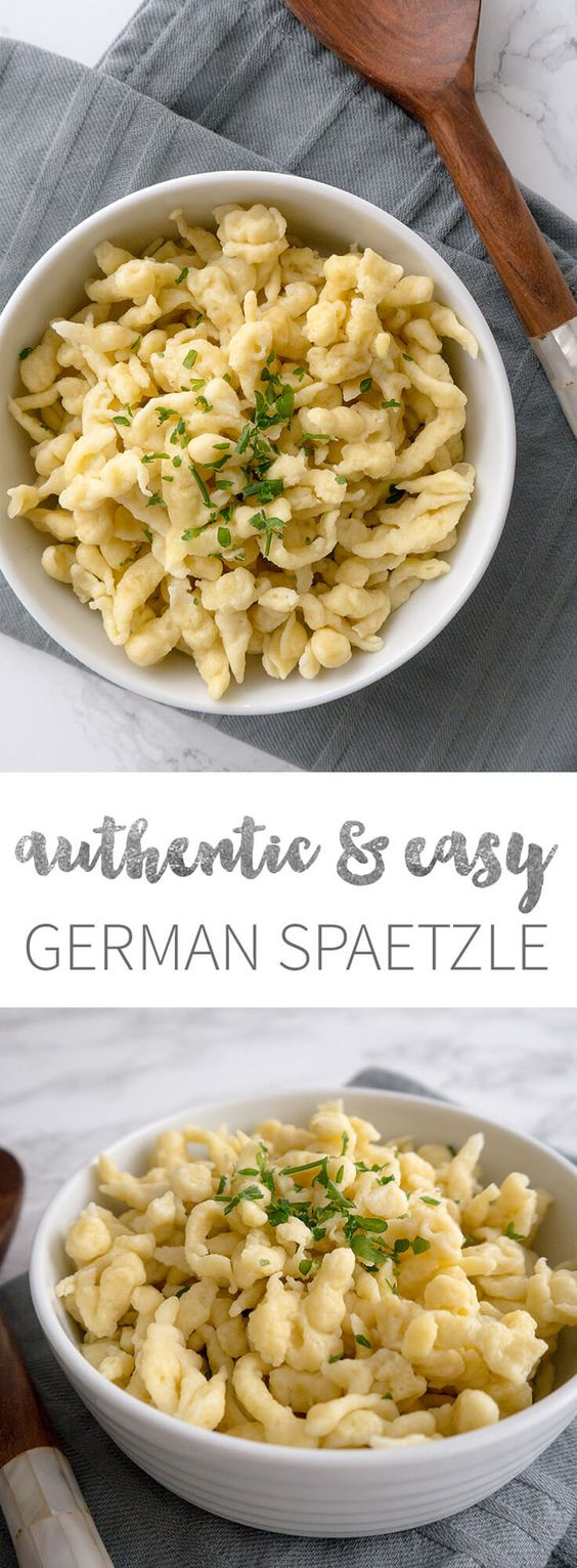 Easy German Spaetzle Recipe - ready in only 15 minutes and a great side dish for all kinds of recipes!