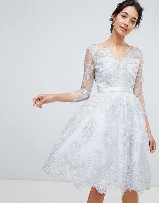 popular brand promo codes best loved Chi Chi London premium lace scalloped neck midi dress in ...