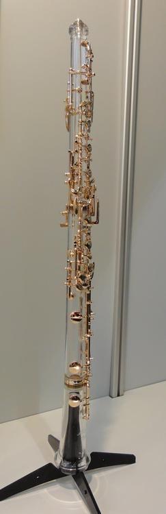 Oboe de Cristal con Teclas de Oro #oro #oboe #cristal