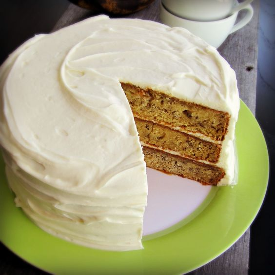 Bananas Foster Layer Cake: With cream cheese frosting and caramel.