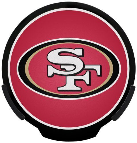 NFL San Francisco 49ers Power Decal by Rico. Save 21 Off!. $15.86. Officially Licensed Team Logo. Light and Motion Sensors Activate LED Lighting and Preserve 3 AA Batteries (included). Attaches Easily to Window with Window Clips. Let your team spirit shine with POWERDECAL. Powered by LED lighting, logo shines brightly through your car window. Device turns on and off automatically via sensor technology. Simply remove 3M adhesive strips and place your POWERDECAL in your auto window. Unit...