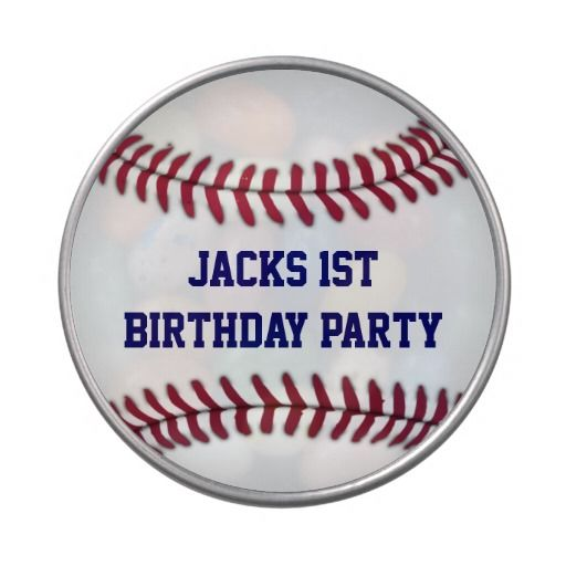 Boy's Baseball Personalized Party Favor Jelly Belly Tin