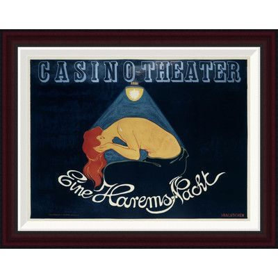 Global Gallery Casino-Theater/Eine Harems-Nacht by Hans Baluschek Framed Vintage Advertisement Size: