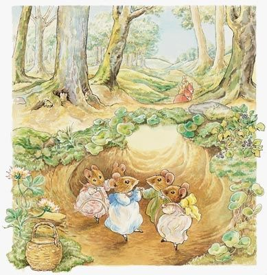 Beatrix potter murals and mice on pinterest for Beatrix potter mural