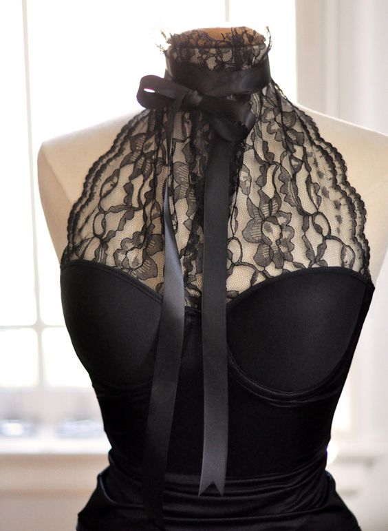 DIY Lace Halter... love this.