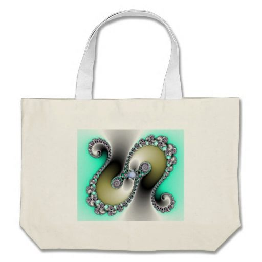 Shiney Twist Tote Bag!  I created this design for my CG #fractal #store.  I hope you like it!  I have a full line of #products with this #graphic!  Thanks for looking!  http://www.zazzle.com/fractalsbydww25921*