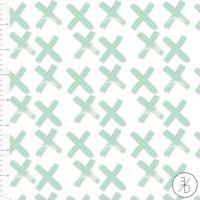 Jersey Croix coloris menthe 20 x 160 cm
