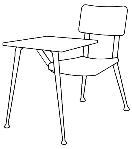 How to draw a classroom desk