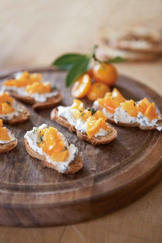 Crostini with Herbed Chèvre and Kumquats | Williams-Sonoma Taste
