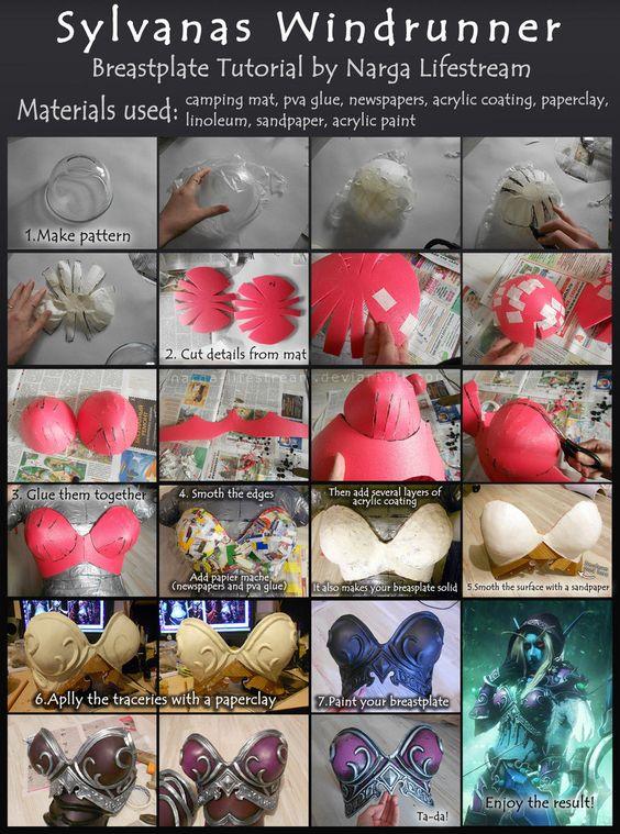 Breastplate tutorial: Sylvanas Windrunner by Narga-Lifestream http://narga-lifestream.deviantart.com/art/Breastplate-tutorial-Sylvanas-Windrunner-509573261