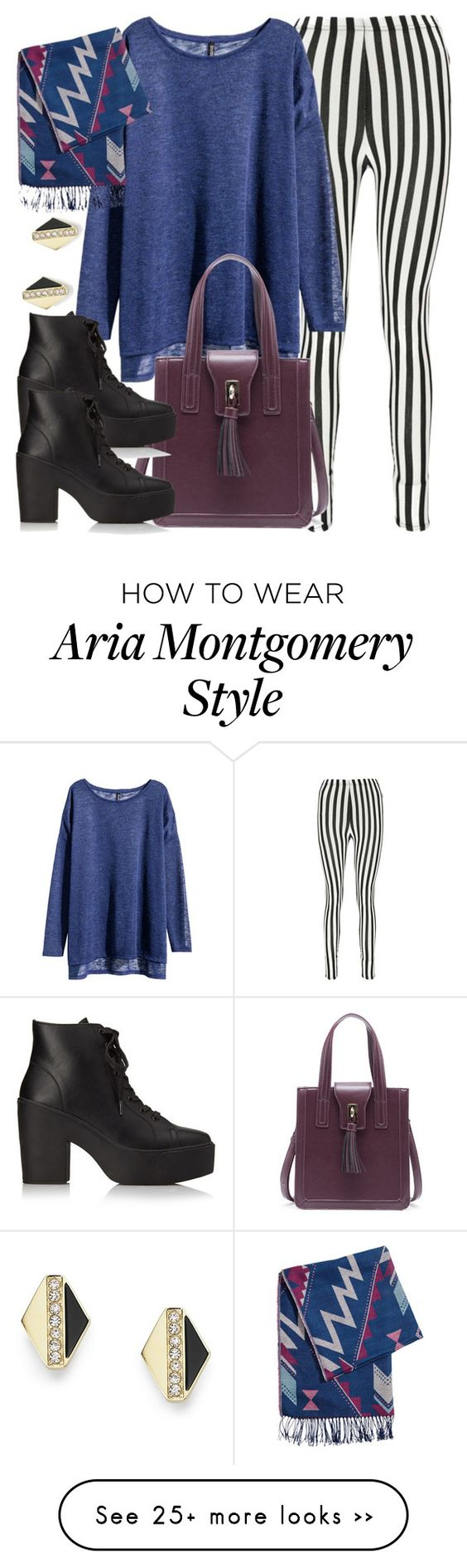 """""""Aria Montgomery inspired outfit"""" by liarsstyle on Polyvore featuring Boohoo, H&M, Sole Society, Forever 21 and FOSSIL"""