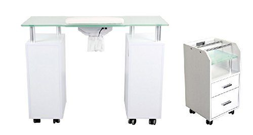 Glass Glow Nail Table That Has A Vent By Dermalogic Manicure Table Manicure Glow Nails