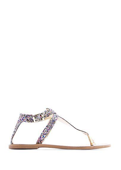 MANGO - Shiny strap sandals