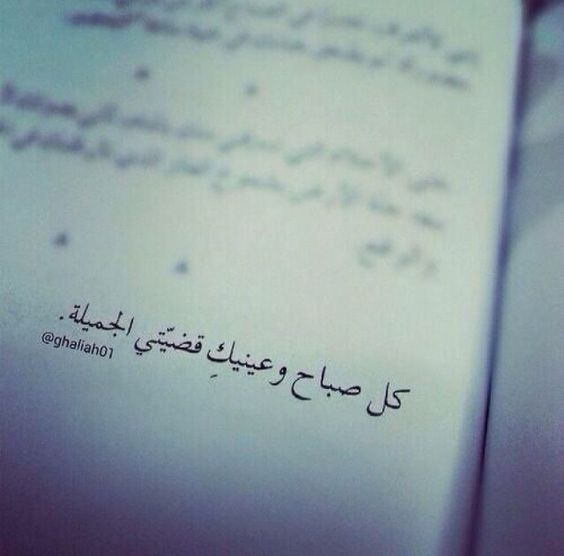 كل صباح وعينيك قضي تي الجميلة One Word Quotes Love Words Words Quotes