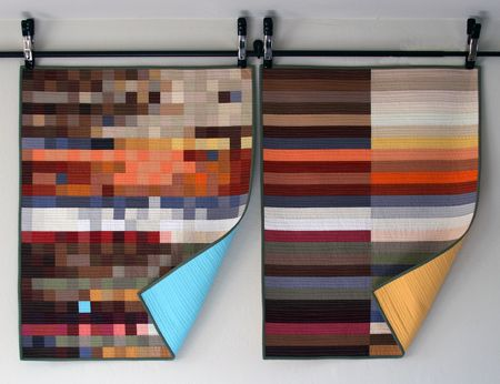I love these quilts. Mosaic Quilts by Amy/Amy a la Mode