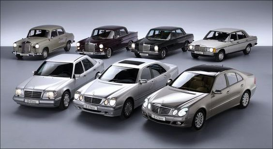 Mercedes e class with the moon roof from the front to the for Mercedes benz model history