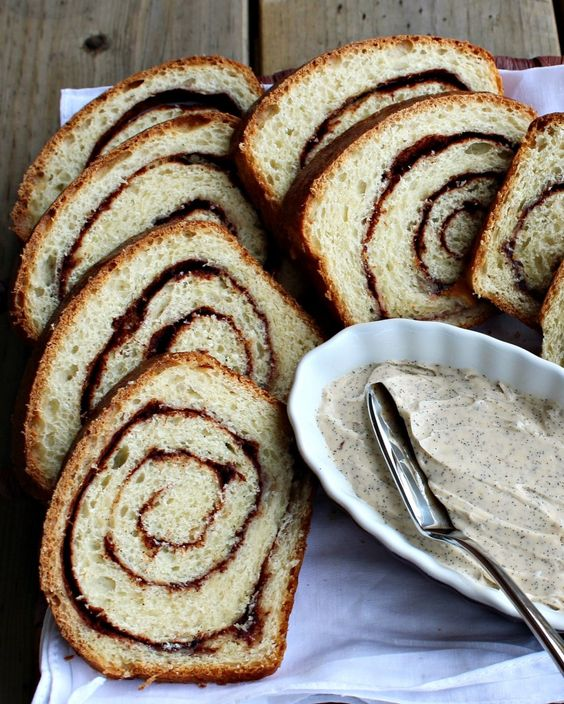 Cinnamon Vanilla Swirl Bread with Vanilla Bean Whipped Butter