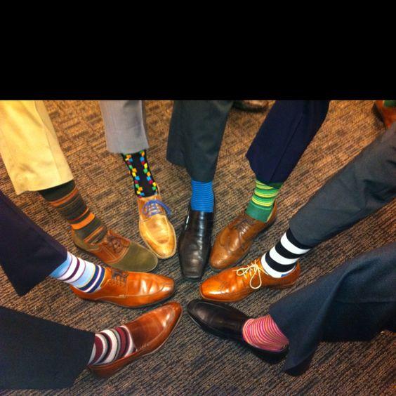 I love this new socks fashion on men -Happy socks-