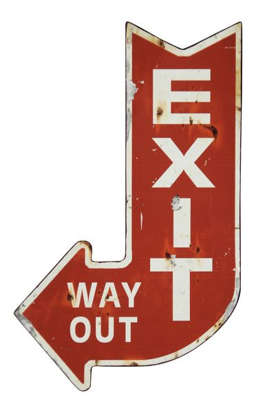 Exit Iron Plaque | Wall Art And Decor | Accents | Products | Urban Barn