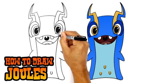 How to Draw Joules (Slugterra)- Art Lesson for Kids