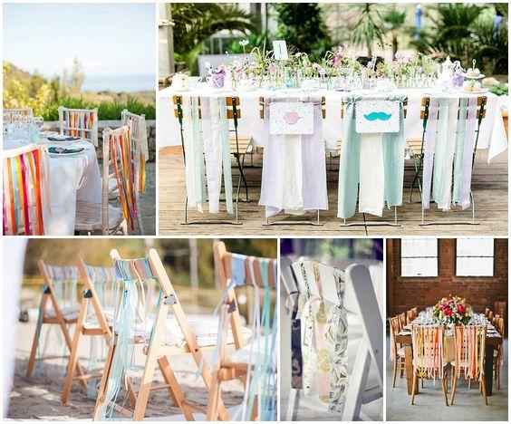 4 Wege, Stühle aufzuhübschen: Stuhl-Deko Baender | Verrueckt nach Hochzeit