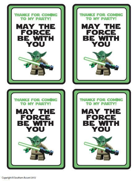 customized star wars party printables gift bag by