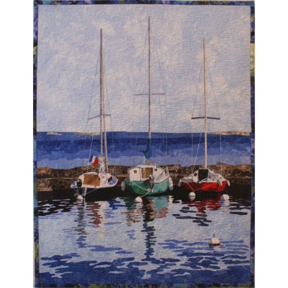 Sailboats quilt pattern was designed by Lenore Crawford and includes fusing pattern and instructions.