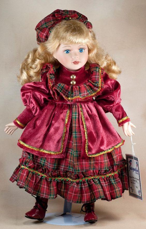 "Jacqueline Collection Olive 16"" Porcelain Doll Blond Hair Blue Eyes #Jacqueline"